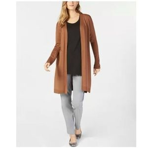 JM Collection Open Front Duster Cardigan